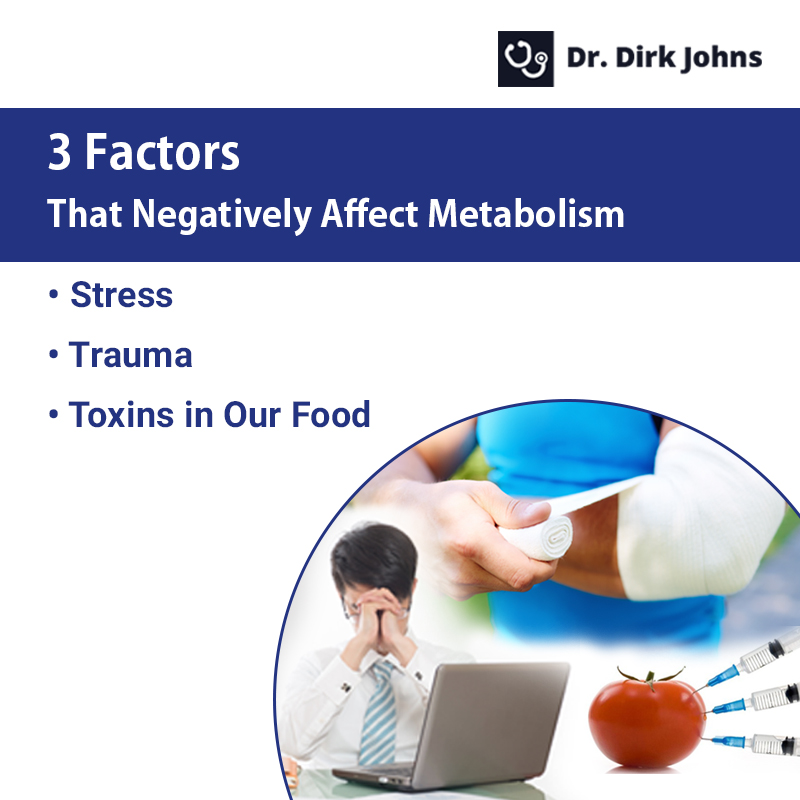 What are the factors affecting metabolism in a negative way?